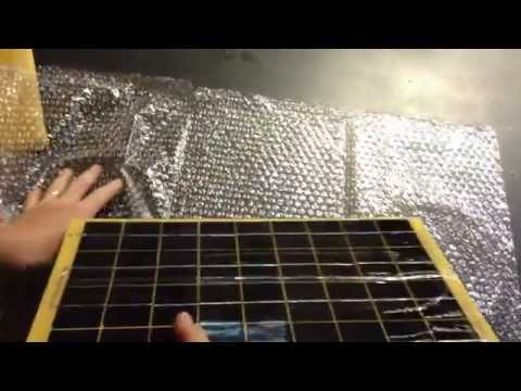 10w-epoxy-light-weight-solar-panel-charger-c/w-diode-&-3m-cable-for-12v-battery-unbox
