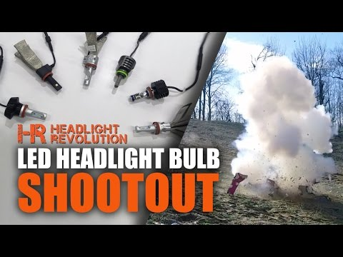 15 Brands LED Headlight Bulb Shoot-Out! Which one's the best?