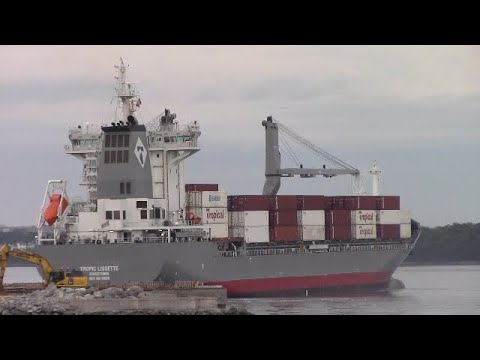 Brand New Container Ship TROPIC LISSETTE Arriving at Halifax, NS, Canada