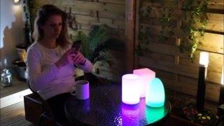 Smooz Egg, Bar & Tube LED Garden Table Lights