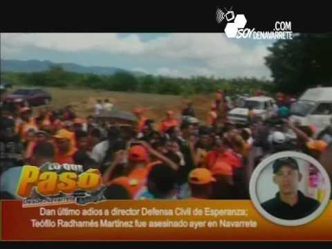 El Ultimo Adiós A Teofilo Martínez Director De La Defensa Civil De Esperanza