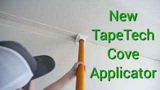 Installing Mouldex mouldings with TapeTech cove applicator