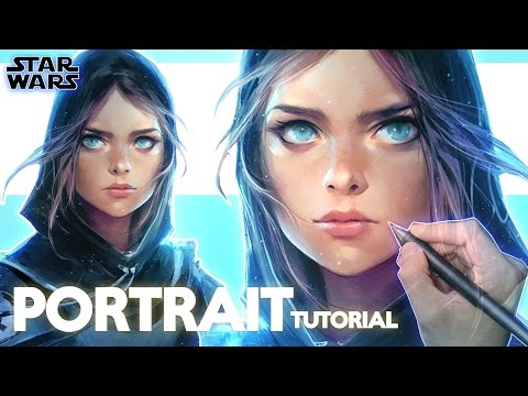 Ross Draws STAR WARS! | PORTRAIT TUTORIAL
