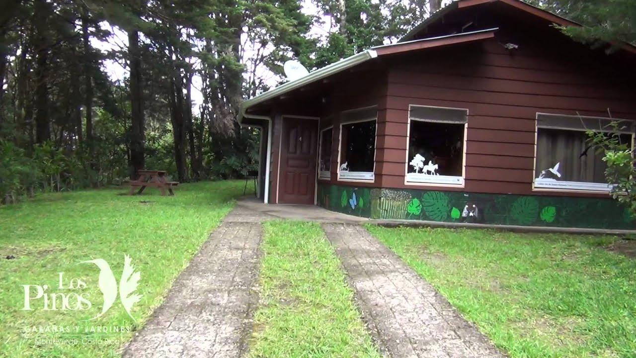 Caba as y jardines los pinos monteverde youtube - Cabanas de madera los pinos ...