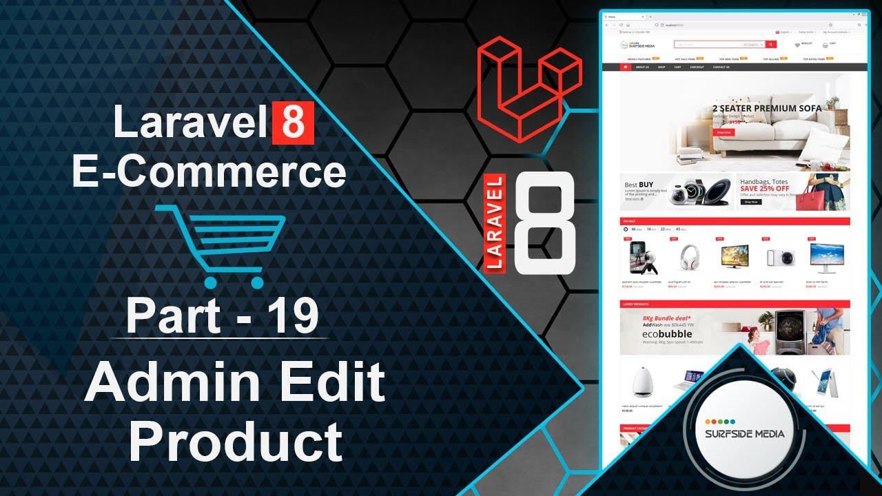 Laravel 8 E-Commerce - Admin Edit Product