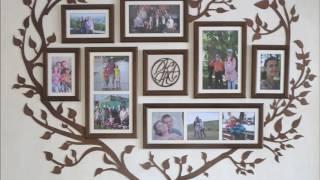 Семейное дерево - фоторамка для коллажа из нескольких фотографий