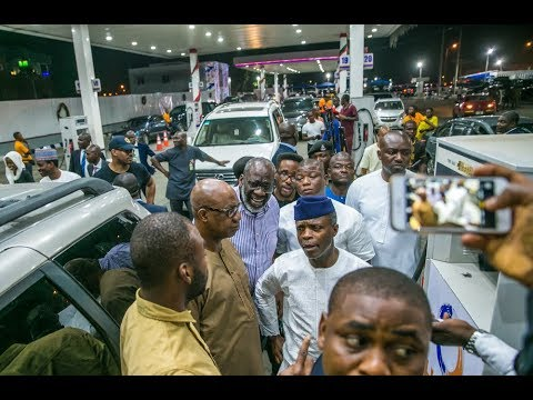 Prof. Yemi Osinbajo Makes a Stopover at Lagos Filling Stations (Heyden - VGC)
