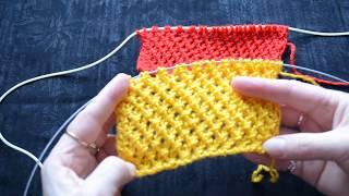 Knitting. Узор СЕТОЧКА-ШАХМАТКА  спицами. Лёгкий и красивый узор. Вязание для всех.