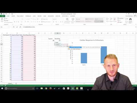 T-Test In Excel