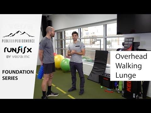Running Injury Prevention: Foundation Series. 07 Overhead Walking Lunge
