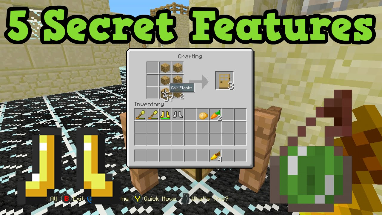 Minecraft Xbox One PS4 5 MORE Secret TU25 Features YouTube
