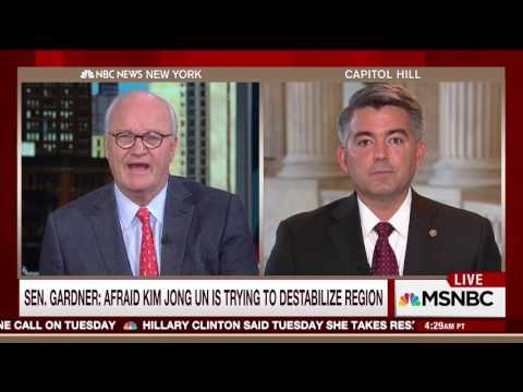 Senator Gardner Discusses North Korea with Morning Joe Panel
