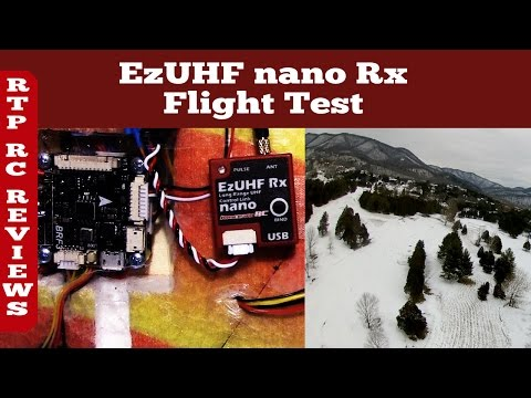 ImmersionRC EZUHF Nano LRS Receiver Flight Test and link to Binding and Firmware Updating Flight Vid