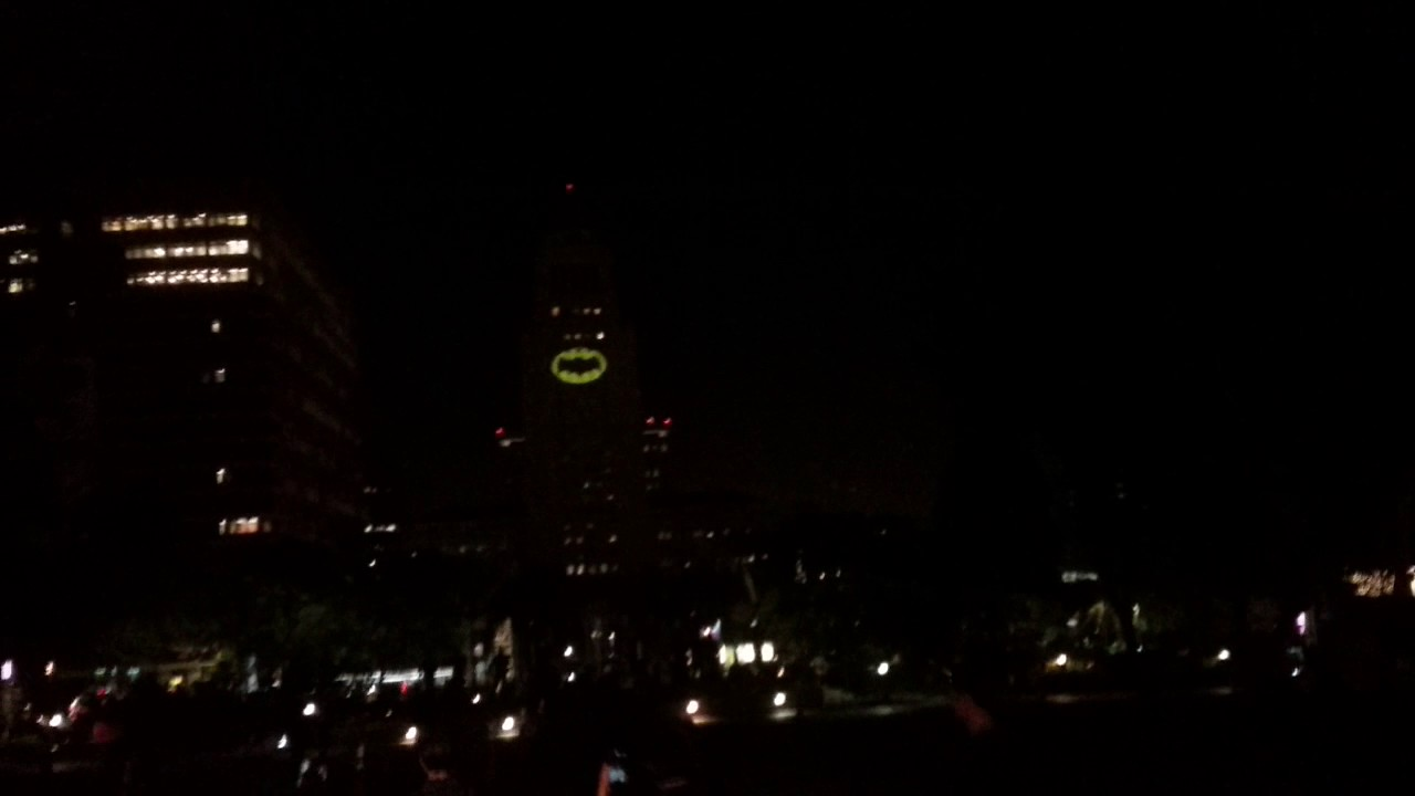 They Lit Up The Night With The Bat Symbol In Honor Of Adam West