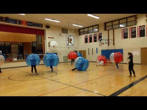 Wicked Ball at Elm Middle School with the teachers joining in.