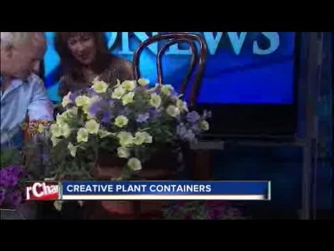 How to recycle old items into planters