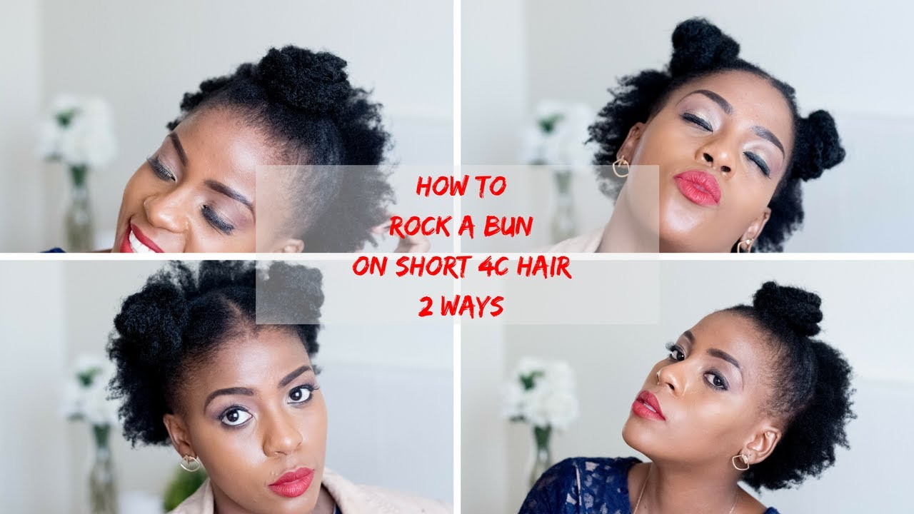 How To Bun Styles For Short Natural Hair 2 Styles Eco Styler