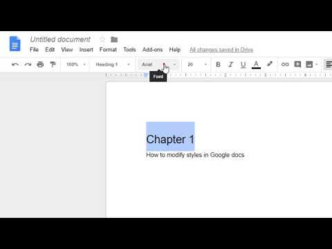 How To Modify The Styles In Google Docs | Change The Heading, Paragraph Style In Google Docs