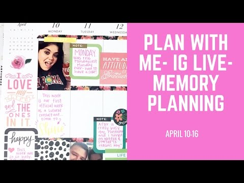 MEMORY PLANNER- PLAN WITH ME LIVE ON IG- APRIL 10-16