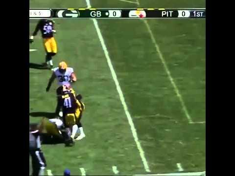 NFL Elite WR Jordy Nelson Tears ACL - Preseason Packers vs Steelers 2015 NFL Preseason Game Injury