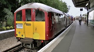 The unique Ex London Underground Trains on the Isle of Wight July 2015