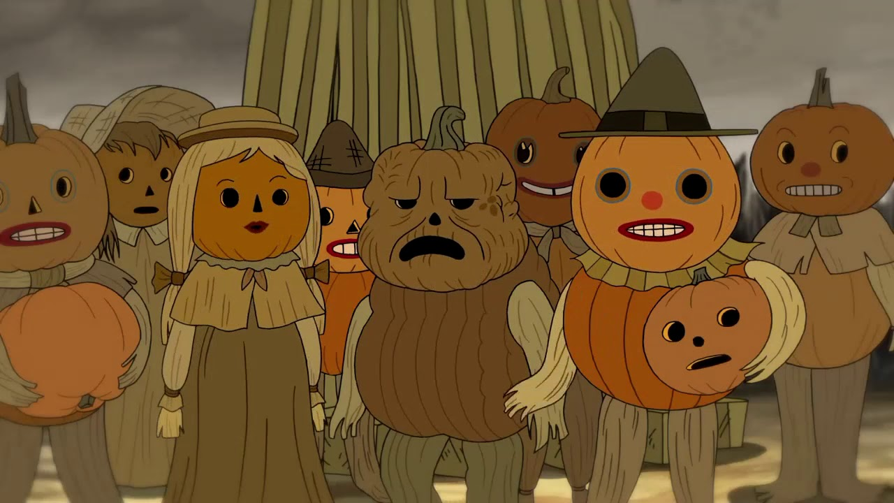 scary pumpkins over the