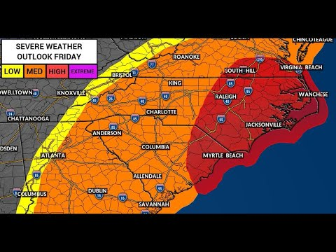 Severe Weather Possible In Charlotte Friday