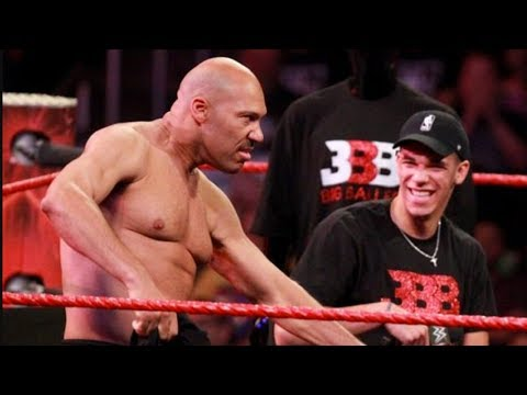 Lavar, Lonzo and the Ball Brothers Light Up WWE RAW With A Crazy Performance!