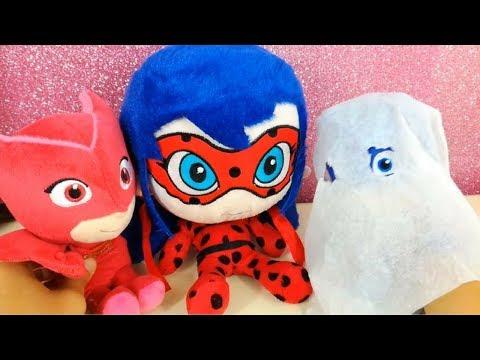 Il FANTASMA dei PJ MASKS SUPER PIGIAMINI! LADYBUG e GUFETTA smascherano il fantasma... GATTOBOY!
