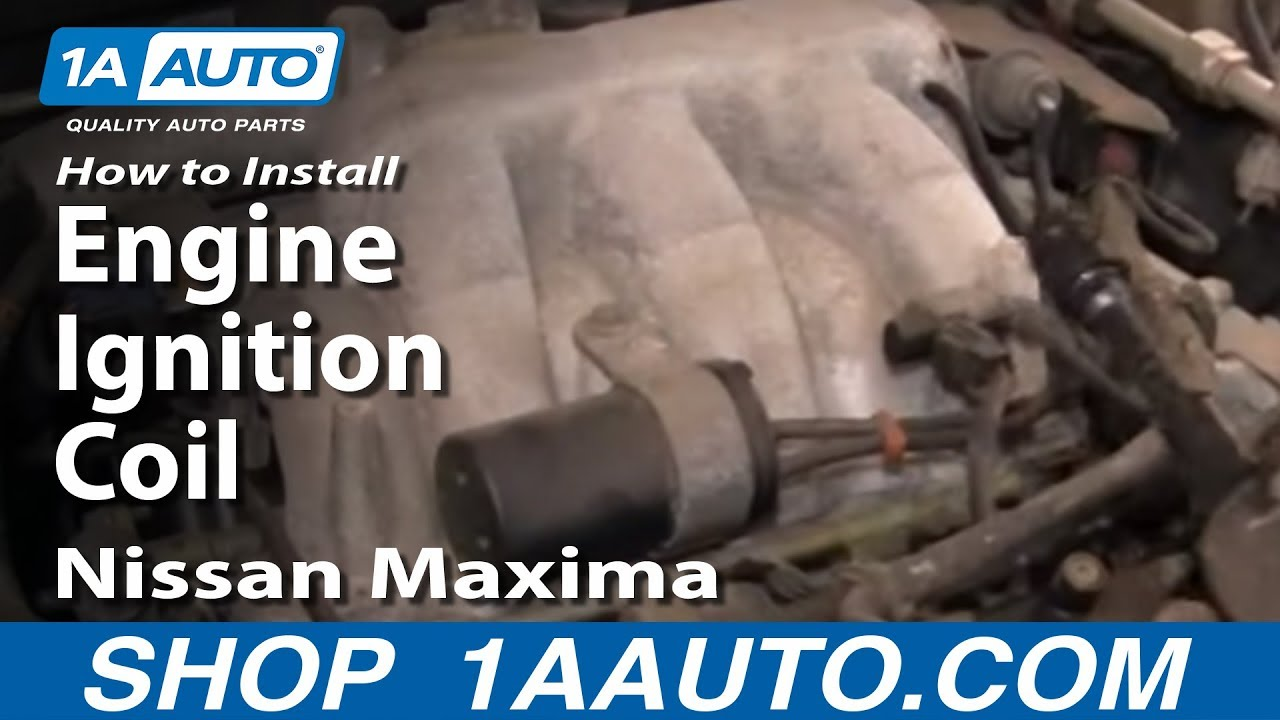 maxresdefault how to install replace engine ignition coil 2000 03 nissan maxima  at webbmarketing.co