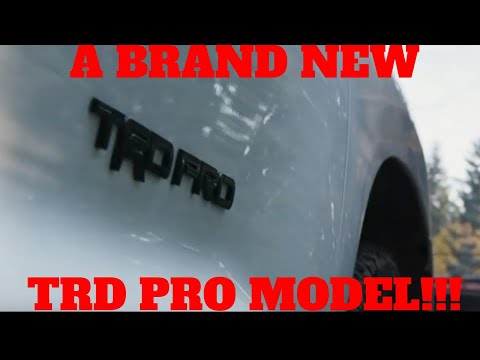 TOYOTA TEASES A NEW TRD PRO MODEL!!!