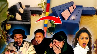 On a piégé Lena en transformant TOUT son salon en LEGO. Sa réaction est géniale.