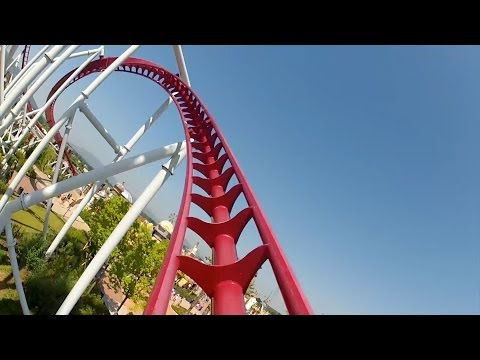 Shock Roller Coaster Front Seat POV Rainbow Magicland Rome Italy 1080p HD