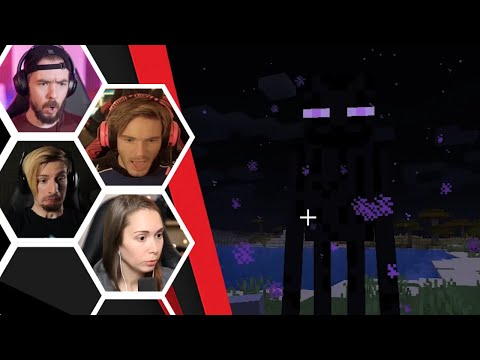 Let's Players Reaction To Their Encounter With An Enderman | Minecraft