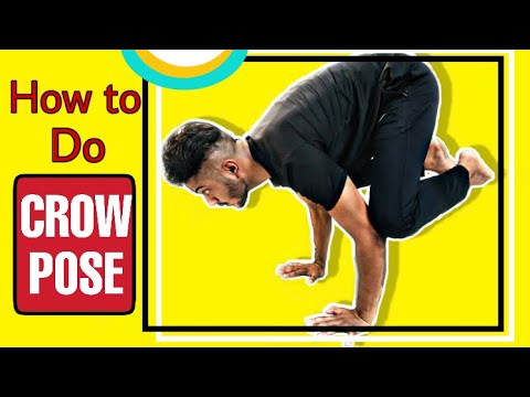 crow pose  stepstep  how to do the crow pose  arm