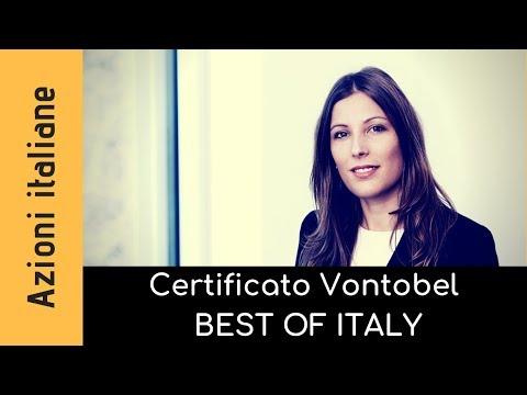 Certificato Vontobel best of Italia. Come funziona e come è calcolato?