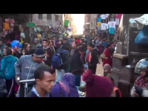 Asan Tole Chaos, Mass of Humanity in the Heart of Kathmandu, Nepal