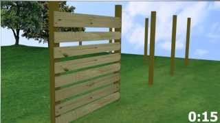 Horizontal Wood Fence (meek's In Under A Minute)