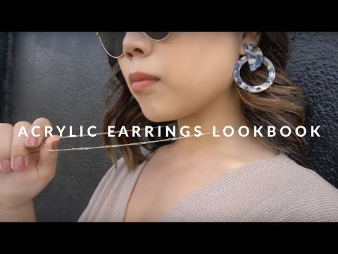 Acrylic Earrings Lookbook | JULIA SUH