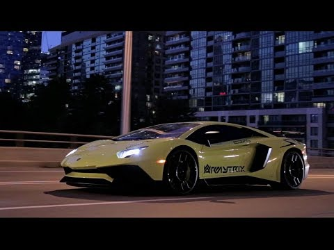 Toronto Late Night Madness w/ Aventador LP750-4 SV ft. Armytrix Titanium Exhaust By YST Tuning