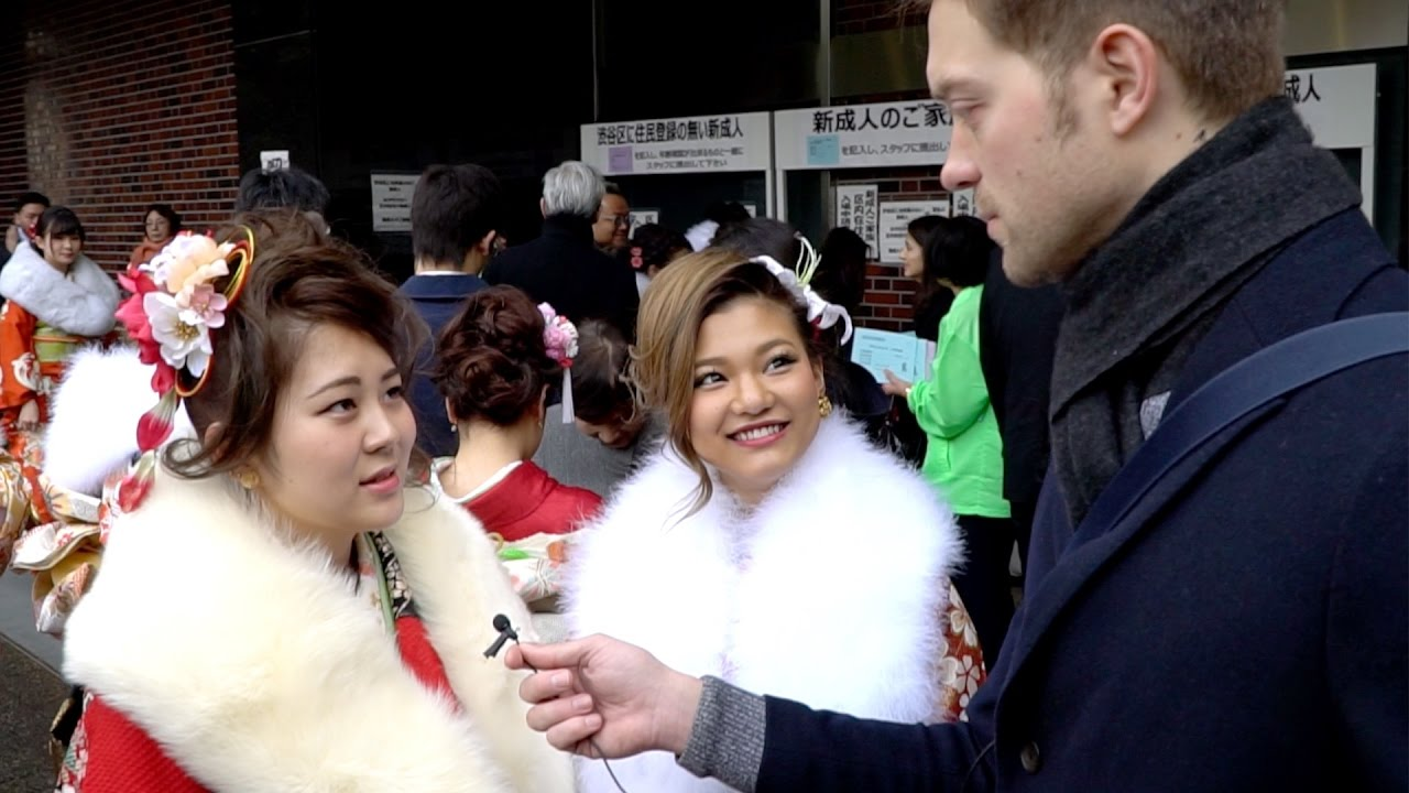 Красивая японка и умная японка. Реакция на иностранца