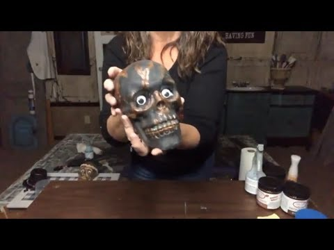 Halloween DIY Decor | Dollar Tree Skull Project