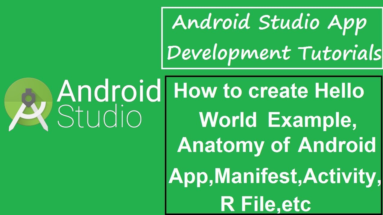 Android Studio Tutorial - 6 - Hello World Example,Anatomy of Android ...