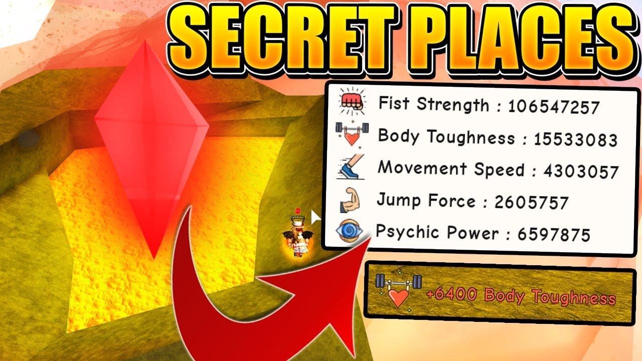 BEST SECRET TRAINING PLACES IN SUPER POWER TRAINING SIMULATOR! (Roblox)