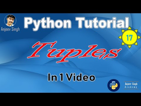 Tuples | Python Tutorial 17 | Complete Tuples in one Video | CS | IP thumbnail