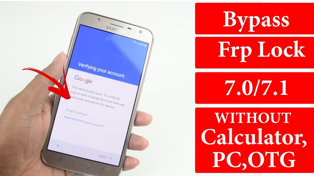 How To Bypass Google Account Lock Frp Lock Unlock Without PC | Android  7 0/7 1 All Samsung 2018