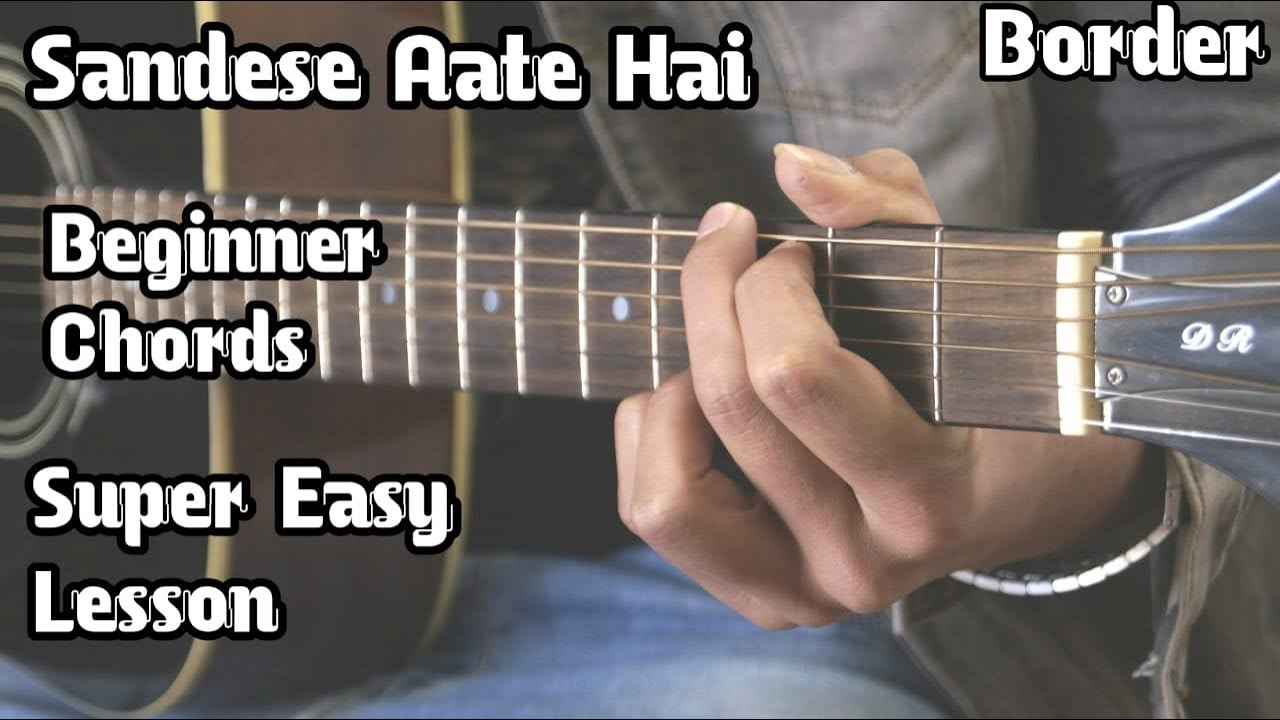 Sandese Aate Hai | Guitar Lesson | Border | Open Chords For Beginner | Easy Lesson | Guitar Adda