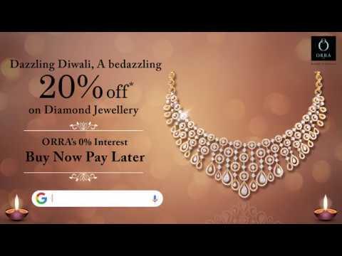 ORRA Diwali Offer - 20% Off On Diamond Jewellery