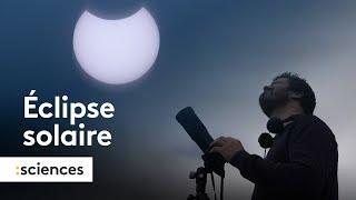 Une éclipse partielle au dessus de la France
