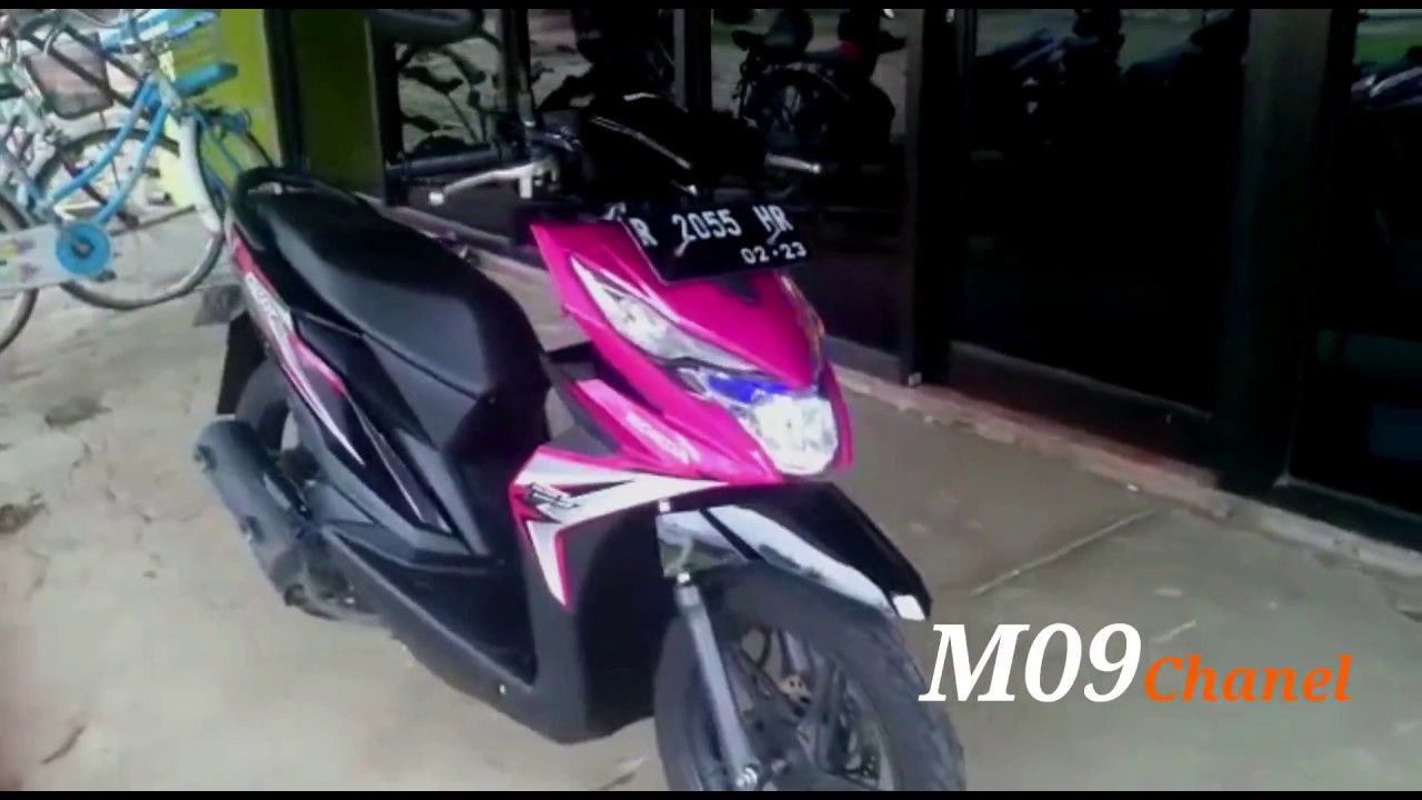 Modifikasi ringan motor honda beat magenta 2018 part1